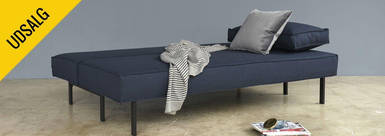 Sly er en kompakt sovesofa med en dybde på kun 94 cm.<br>