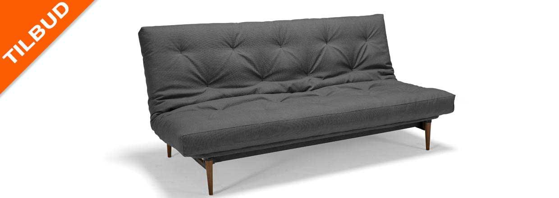 Couple sovesofa incl. Spring futon, matsort understel og teak ben<br>