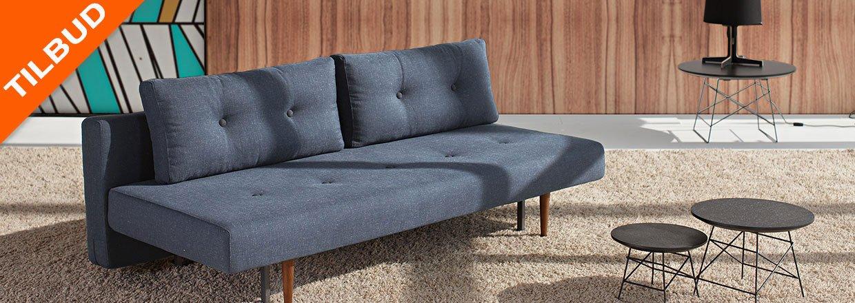 Recast Plus er den kompakte sovesofa i 50/60er look med teak ben<br>